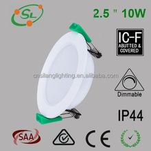 2.5 inch 10 w ultra thin dimmable smd led downlight out-built driver ceiling downlight