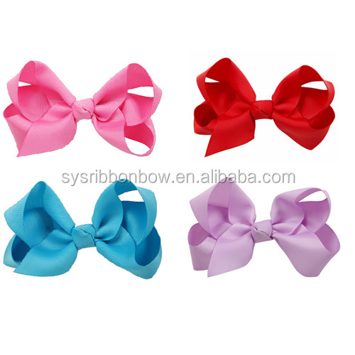 Hot selling satin ribbon baby boutique hair bows for hair accessories