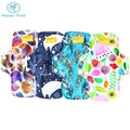 Happy flute washable Bamboo Charcoal Reusable Menstrual Cloth Sanitary Pads for Women