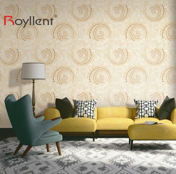2017 Hot selling Royllent geometric circle design wallpaper