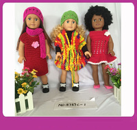 Trending Hot Products 18 inch African Skin Blonde Skin Dolls American Girl Doll With Beautiful Clothing