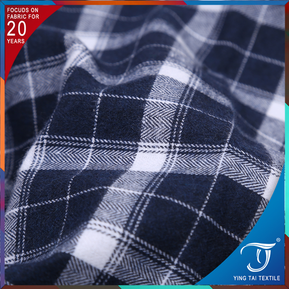 factory stored dark blue and white color cotton check fabric