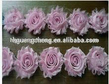 high quality multi colour shabby chiffon flower trim shabby chic flower trim chiffon fabric flower trim