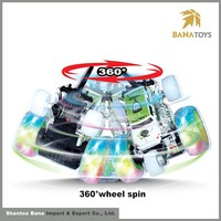 Factory price colorful rotation car rc with light and music