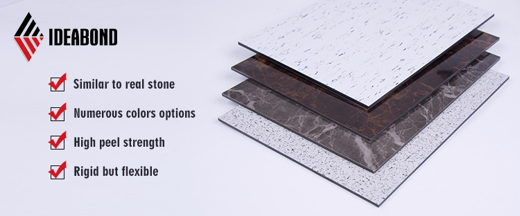 Marble finish acp /marble finish aluminum composite panel/stone look wall panelling cladding building material