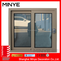 Cheap price modern design aluminum sliding window grey color fashion style for home