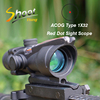 ST 1001 Shoot Thing Sight ACOG Type 1X32 Red Dot Sight Scope with Illumination Source Fiber with 22mm Mount Airsoft Riflescope