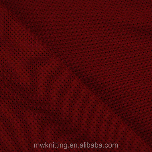 100% polyester 100 denier mini Mesh fabric for young Softball jersey