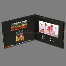 Factory Supply Customize video brochure ,blue firm video