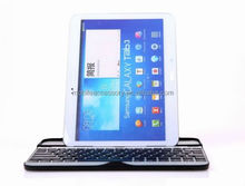 Wireless metal aluminum bluetooth keyboard case for samsung galaxy tab 3 8