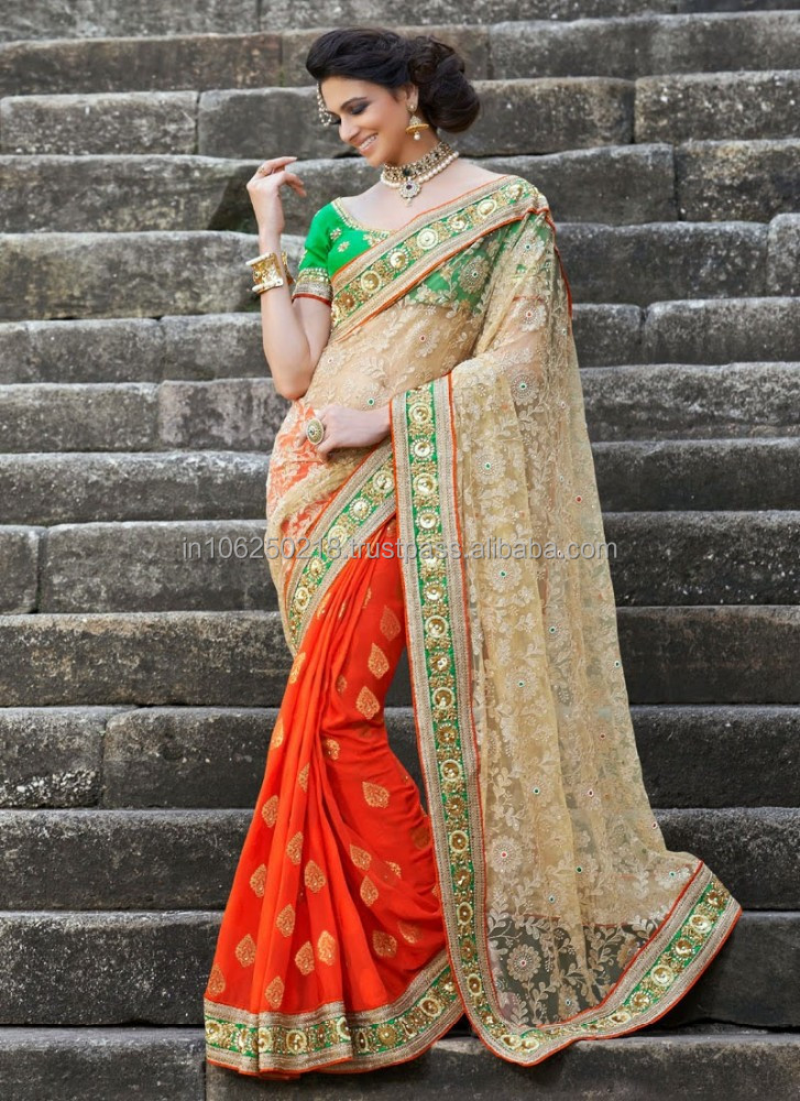 Wholesale indian embroidery designs bollywood saree R7608