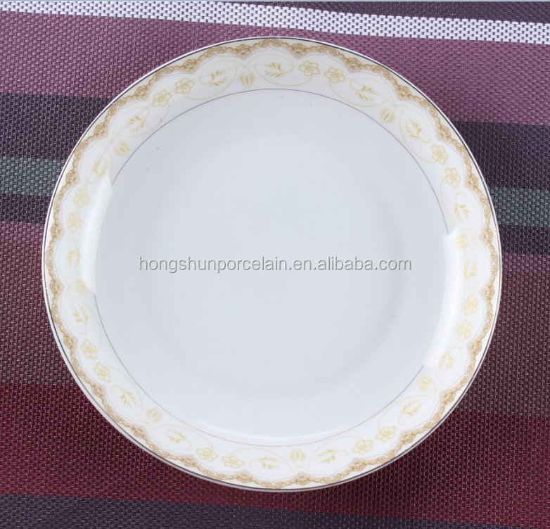 decoration fruit plate/bone china plate/wedding crockery