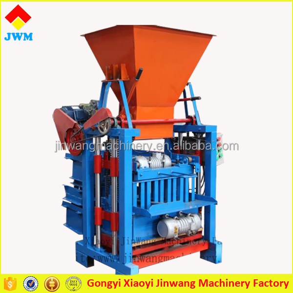 Modern light weight solid mud interlocking hollow block manual interlocking brick making machine with ideal models