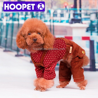 HOOPET old fashioned rib velcro shortall pet clothing dog pants dog clothes