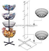 for store supermaket metal wire basket display rack
