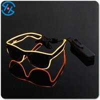 Hot selling plastic novelty el wire flashing Sunglasses, Novelties LED Sunglasses, EL flashing sunglasses