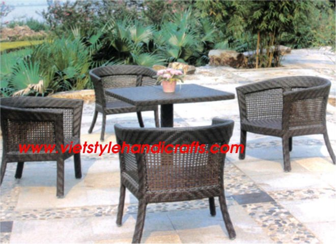 Poly rattan coffee set - hot design