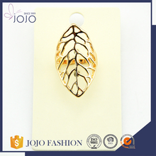 Simple 3d shape of mango leaf ladies gold ring designs