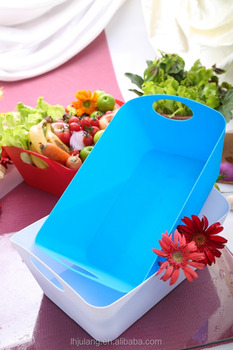 Plastic basket with handle for Household/Plastic storage basket
