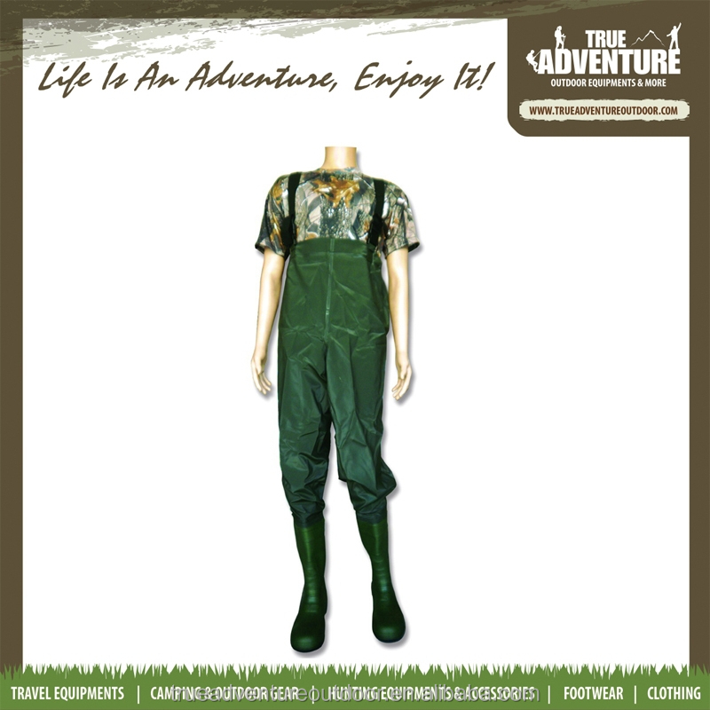 True Adventure TA2-009 Wholesale High Quality PVC Custom Breathable Waders, Plus Size Chest Fishing Wader
