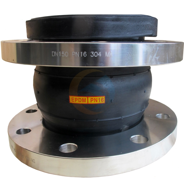 Free sample flanged single ball flexible pipeline epdm rubber joint