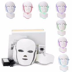 3 color 7 colors therapy neck and facial led light therapy mask