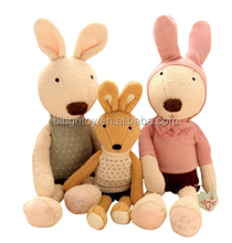 2016 Hot Sale High Quality wholesale soft rabbit family plush toy lovely plush toys