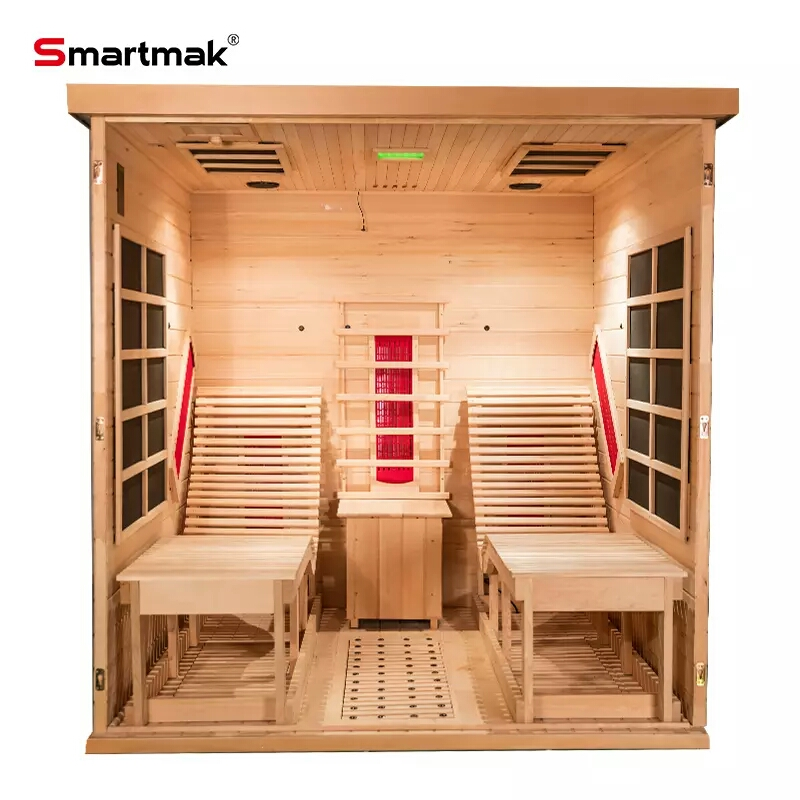 With Salt Two Lay Down Chairs Infrared Home Sauna