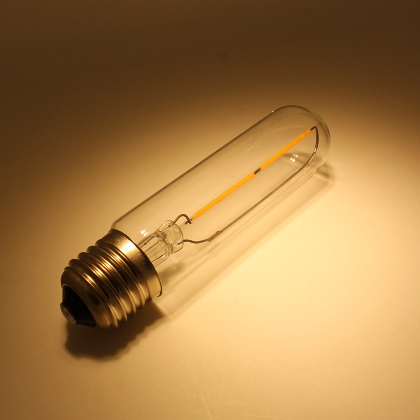 2W T30 T10 125mm Tubular filament led bulb with E27 E26 base
