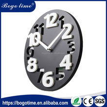 Short time delivery good quality plastic CE Customized big 3d digital art wall clock