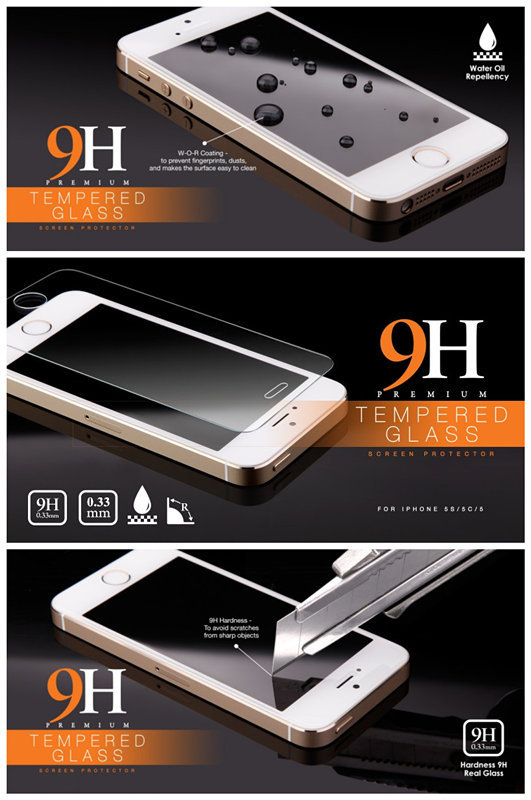 2014 hot sale 180/360 degree Anti-Spy Privacy PET & Tempered Glass Screen Protector For Iphone6/5 Welcome OEM and ODM