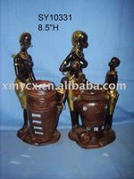 Beautiful black women figurines