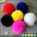 2016 Hot Sell Charm Handbag Mirror Pompom Artificial Fur PomPom Keychain