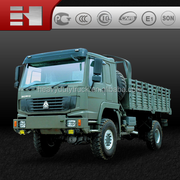 hot sale 2016 new truck famous brand--SINOTRUK HOWO 4X4 high quality cargo truck Military Vehicle for Army Use