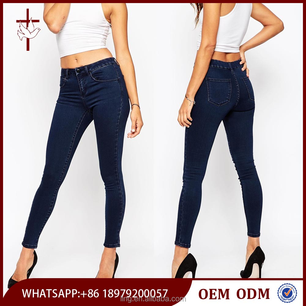 Hot Selling Mid Rise Premium Women Jeans Wholesale China
