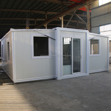expandable shipping container house with flat pack container house for guard house design