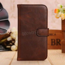 luxury design mobile phone leather flip cover for samsung galaxy s4