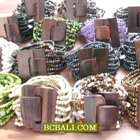 Beads Bracelets Wooden Clasps Stratch Wholesale