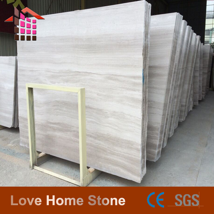 Top Quality Silver Light Grey Wooden grain marble for hotel flooring and wall covering project
