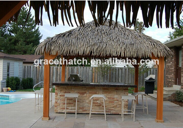 1000mmx650mm Synthetic Palm Leaf Thatch Roofing / Palmex Gazebo