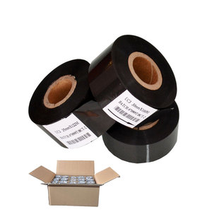 Black color ribbon 25mm 241 manual date batch numbering coding machine hot stamping foil for packaging bags