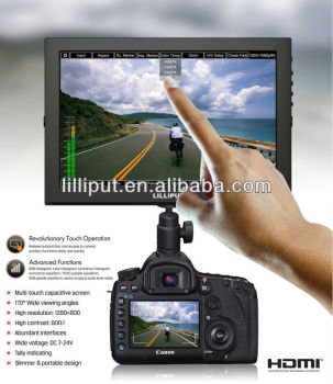 "Lilliput 10"" IPS 1280*800 3G SDI Monitor Vectorscope, Waveform, Audio level meter For FS700 Camera"