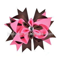Custom Fabric Wholesale Boutique Hairbows Handmade Hair Flower Accessories