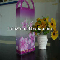 hot sell pretty plastic handle corrugated boxes in china made
