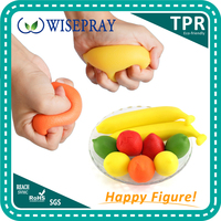 Custom rubber soft finger exercise hand grip anti stress ball