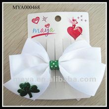 St. Patrick's Day hair Bows