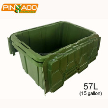 Heavy Duty Military Green Plastic Moving Container Box Tote Bin