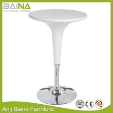 Cheap abs plastic round home kitchen high coffee bar table and chair used table for bar design supplier