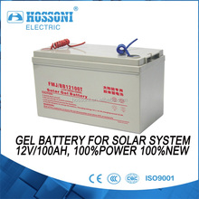 HOSSONI,GEL battery 12V/100AHT for solar system,100%POWER and NEW