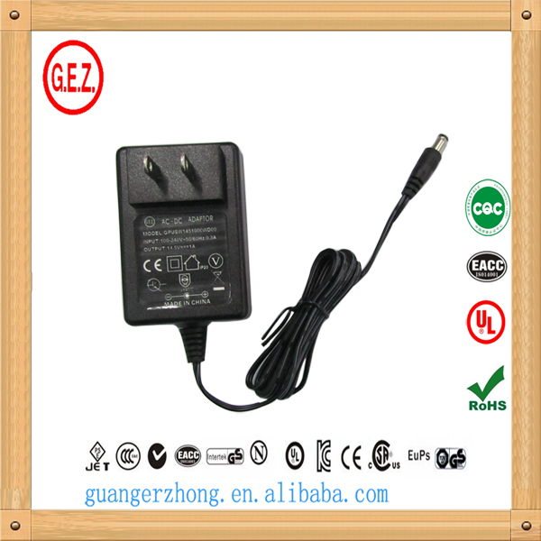 100v to 240v ac power adapter 800ma 15v dc